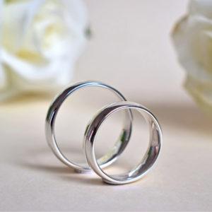 Biżuteria Libellen - klasyczne obrączki ślubne - półokrągłe