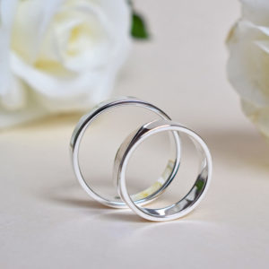 Biżuteria Libellen - klasyczne obrączki ślubne - płaskie
