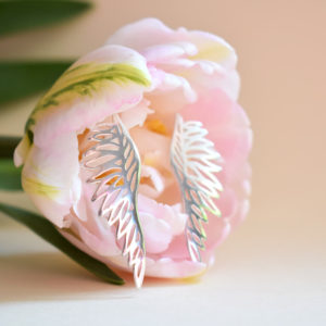 srebrne kolczyki skrzydła Biżuteria Libellen