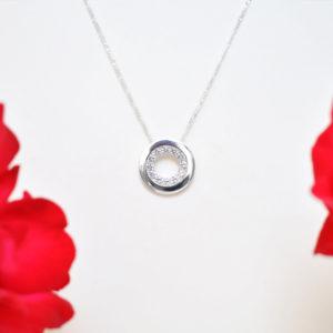 Biżuteria Libellen - wisior srebrny entourage - biżuteria okazjonalna