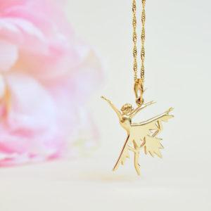 Biżuteria Libellen - złota zawieszka Kryształowa Baletnica - żółte złoto